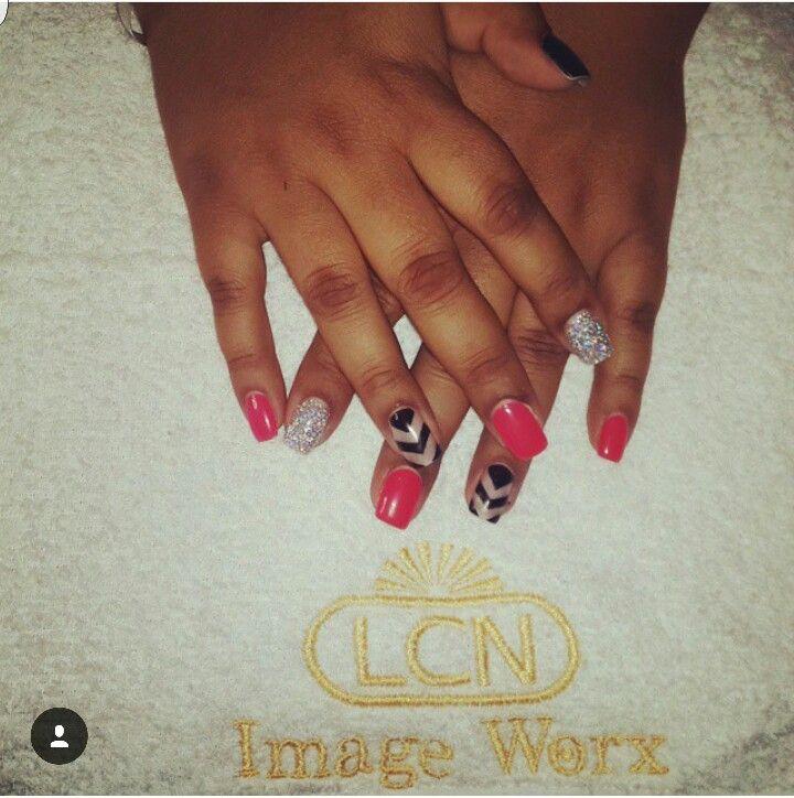 Coralitious with black and multicolour glitter... #LovingitLCN