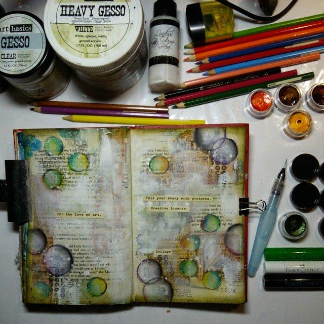 Marta Lapkowska: Freedom of my journal pages + HOW TO TUTORIAL