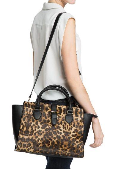 Leopard tote bag MANGO