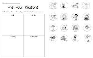 Four Seasons Sort Freebie {First Grade Garden}
