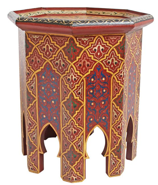 Painted Moroccan Side Table on Chairish.com