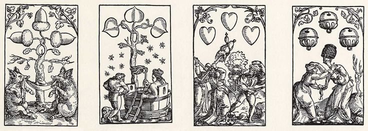 Artist: Flötner, Peter, Title: »Kartenspiel«, Dreier, Date: ca. 1535