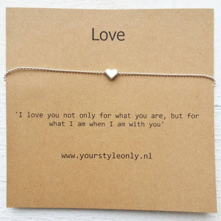 I love you not only for what you are, but for what I am when I'm with you - bracelet or necklace with heart