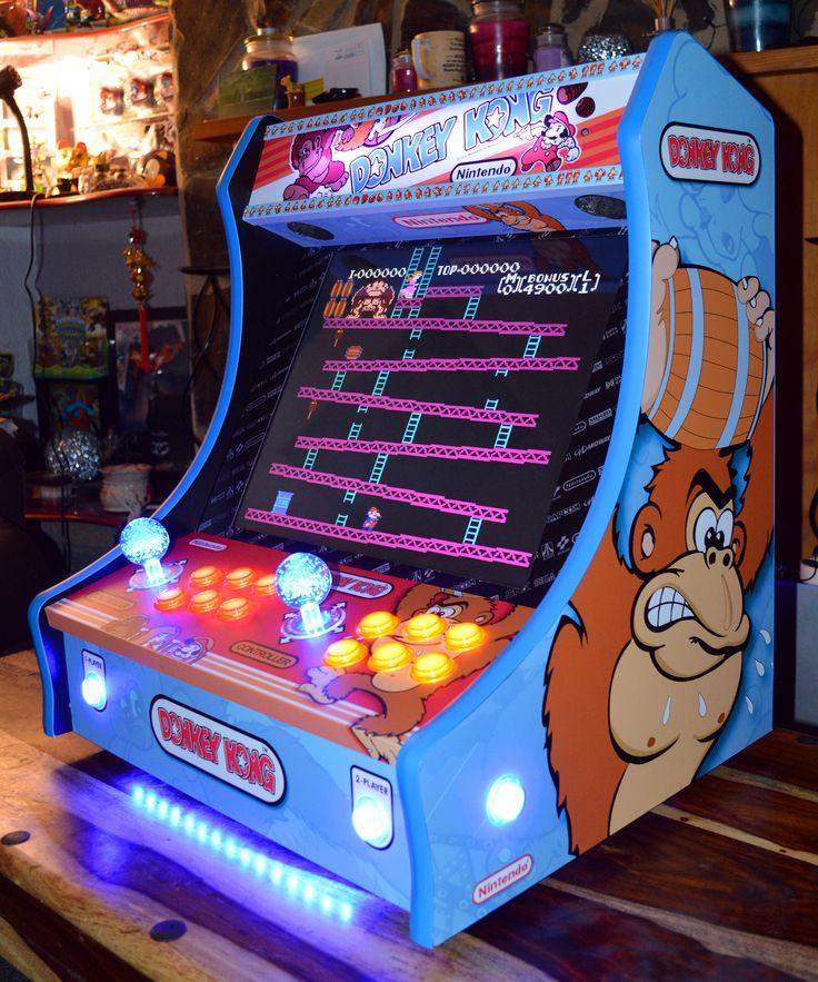 on arcade machine