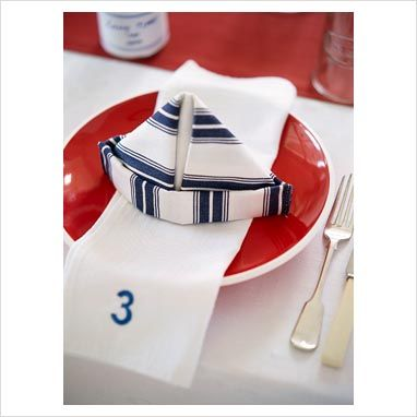 GAP Interiors - View of napkin on plate with fork and knife - Picture library specialising in Interiors, Lifestyle & Homes