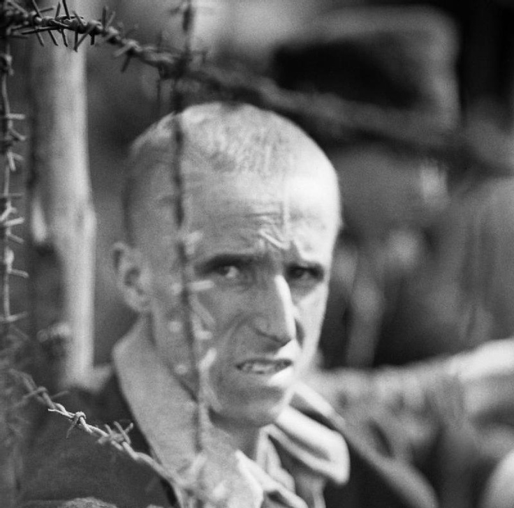 THE LIBERATION OF BERGEN-BELSEN CONCENTRATION CAMP, APRIL 1945. Portrait of a camp inmate.