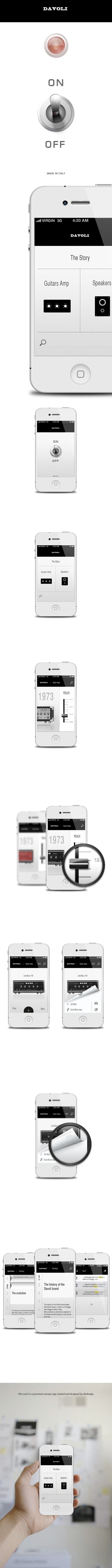 Davoli iPhone App by Stefano Tirloni, via Behance