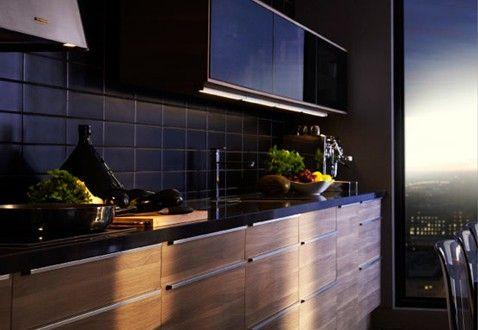 76 best images about cuisine noire et bois on pinterest. Black Bedroom Furniture Sets. Home Design Ideas