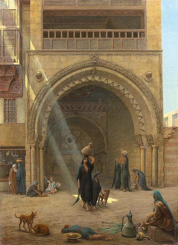 GUSTAVE LE GRAY (1820-1884) LE RETOUR DE LA FONTAINE AU CAIRE