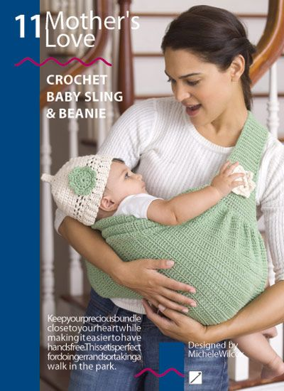 Crochet Patterns For Baby Washcloths : Baby Sling Crochet Pattern (Red Heart; Book Eco-living ...
