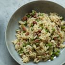Try the Pasta Risotto with Peas and Pancetta Recipe on williams-sonoma.com/