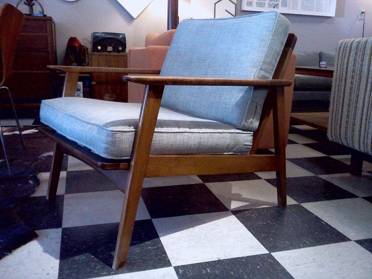 Danish Mid Century Chair And Cushions