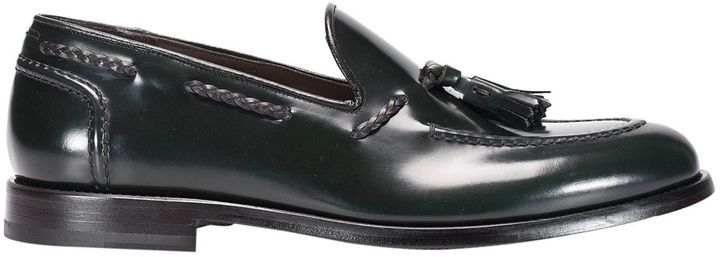 Loafers Shoes Men Green George