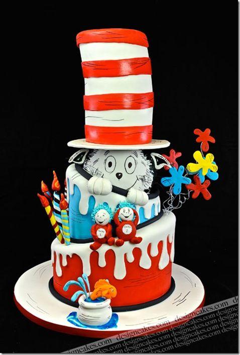 89 best Suessian Cakes images on Pinterest Dr seuss cake Dr suess
