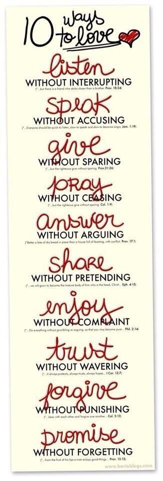 10 ways to love