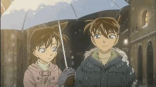 detective conan (animated GIF) Ran x Shinichi