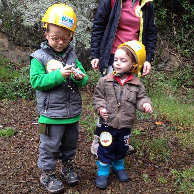 pronti per entrare in miniera! con gli adesivi di Miffy, famiglie al museo #famigliealmuseo