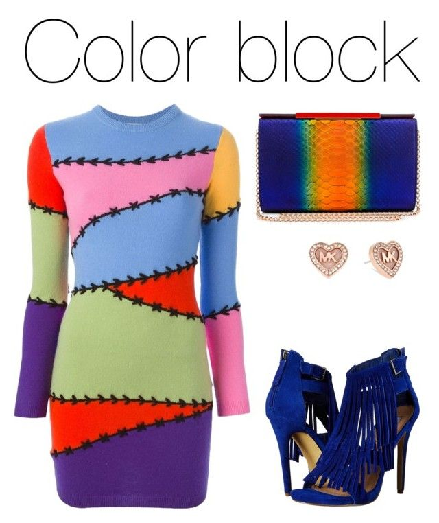 """Colorblock"" by valeria-verde on Polyvore featuring Moschino, Christian Louboutin, Steve Madden, Michael Kors, women's clothing, women's fashion, women, female, woman and misses"