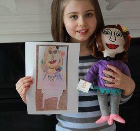 Custom plush doll for little girl