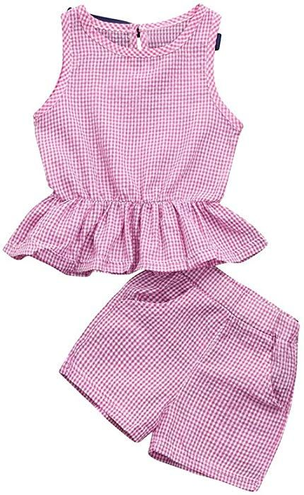 1a028b54b Amazon.com: Rucan Toddler Baby Girls Clothes Set Watermelon Print  Tops+Shorts Outfits (F, 3-4 Years): Clothing
