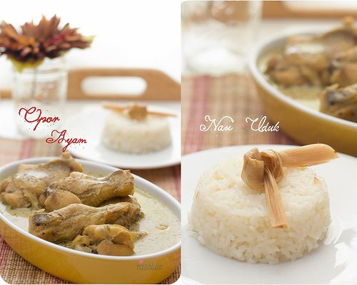 Opor Ayam + Nasi Uduk