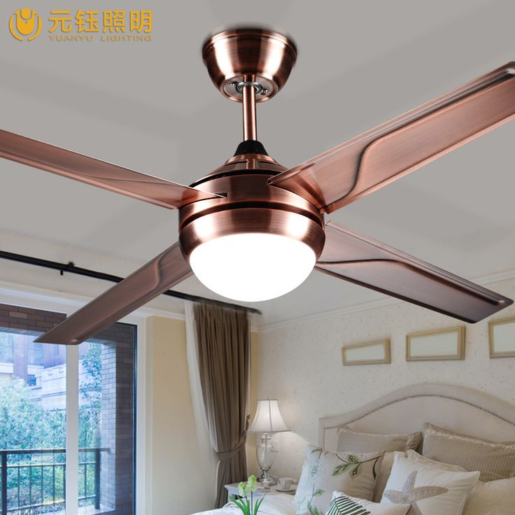 modern brief fashion 3 colors led fan ceiling light with remote control 48 inches 80W AC 80-2650V 1049 #Affiliate