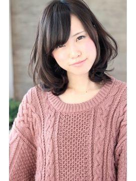 【ミディアム】ヘアカタログ 黒髪でも大人柔カール
