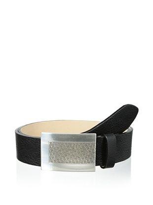 59% OFF Streets Ahead Men's Plaque Belt (Black)