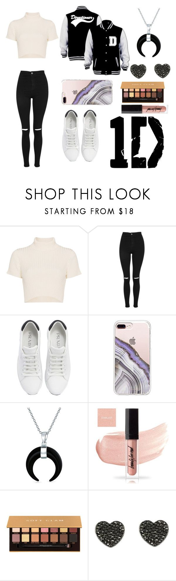 """Meeting 1D"" by thegirlwithglasses1354 ❤ liked on Polyvore featuring Staud, Topshop, Prada, Steve Madden, Bling Jewelry and Anastasia Beverly Hills"