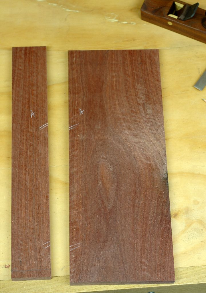 Step 1: We start with the recycled timber boards cut to length