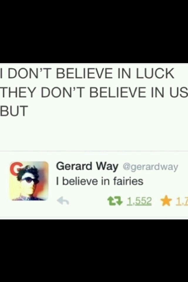 Oh Gerard...