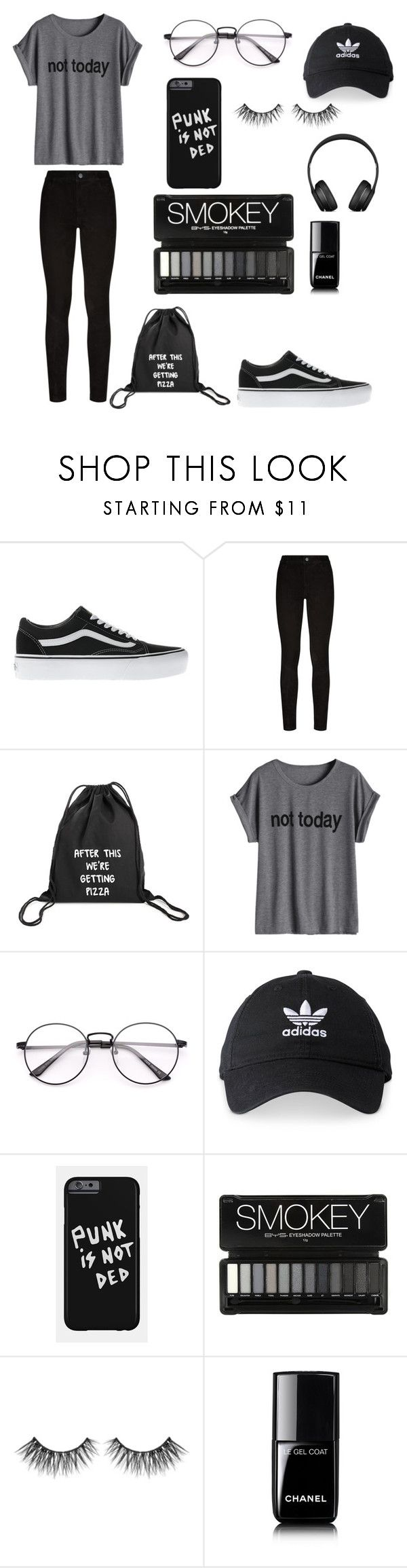 """""""Untitled #1"""" by darya-andreea ❤ liked on Polyvore featuring Vans, Paige Denim, adidas and Chanel"""