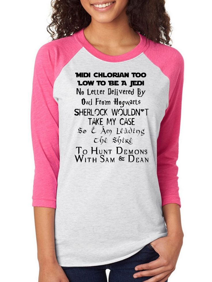 Midi Chlorian Too Low To Be a Jedi Multi Fandom, fangirls, Raglan 3/4 Sleeve Unisex Baseball Tee, Nerd Girl Tees,