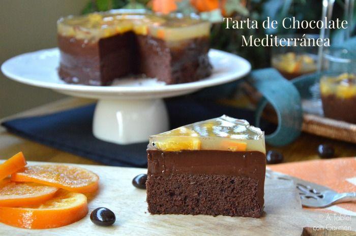 À table !      con Carmen: Tarta de Chocolate Mediterránea