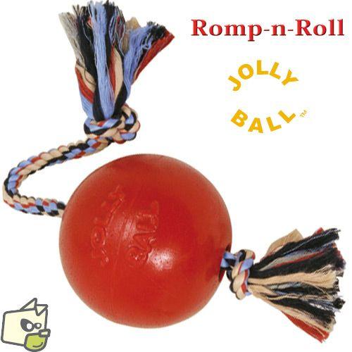 JOLLY BALL CORDE pour chien 28e -Jolly ball Romp-n-Roll T3 Ø 20cm