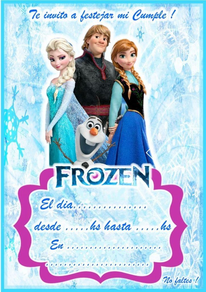 Invitaciones De Frozen En 2020 Tarjetas De Invitacion