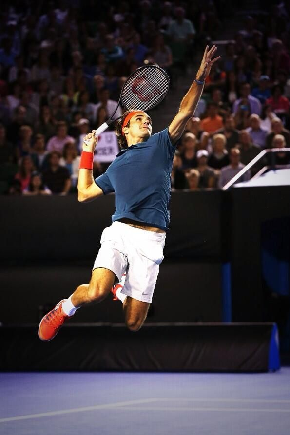 Roger Federer at the RFnight in Melbourne