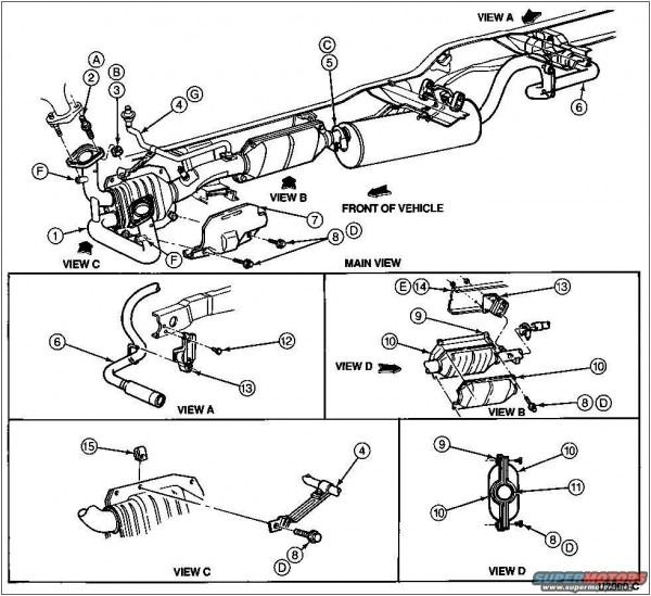 1997 Ford F150 Exhaust Diagram Ford F150 F150 Ford