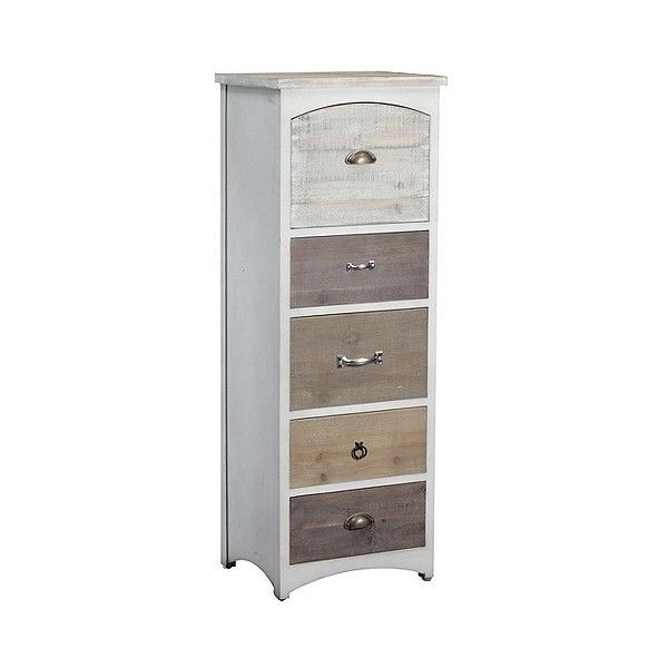Brighton  Chest ($315) ❤ liked on Polyvore featuring home, furniture, storage & shelves, dressers, white, driftwood furniture, drawer furniture, narrow dresser, white dresser and powell furniture