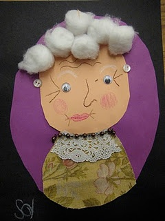 @Debbie Schatteman  I thought you would love to use this as an activity for the 100th day of school.  How fun would it be to have the kids think about what they are going to look like when they are 100 years old?  :)