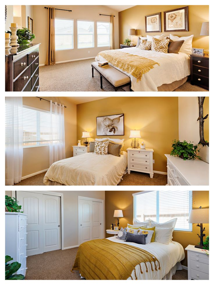 Three yellow bedrooms all fun and BRIGHT