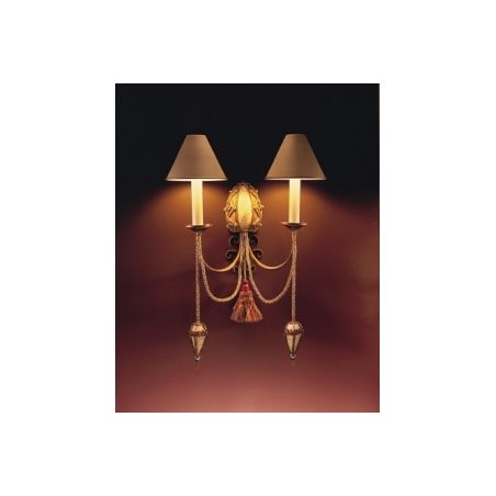 David Hunt AF02 Anastasia 2 light traditional wall light antique brown/brass finish - Wall Lights from Ocean Lighting UK