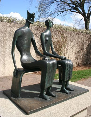 """Henry Moore's """"King and Queen"""" 1952-53 (01) 