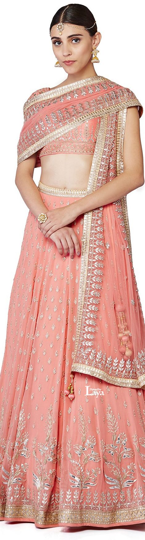 Anita Dongre 2016 collection | Beautiful peach shade ensemble for your wedding closet | Best of India's Fashion