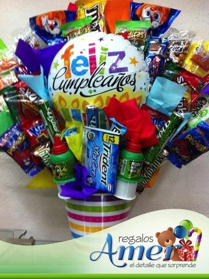 Dulce cumplea os regalos amer canastos con regalos en for Donde comprar globos