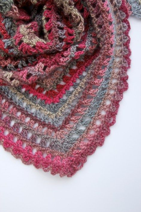 Candy Kisses Triangle Scarf Free Crochet Pattern Red Heart
