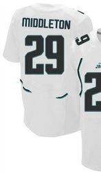 """$78.00--William Middleton White Elite Jersey - Nike Stitched Jacksonville Jaguars #29 Jeresey,Free Shipping! Buy it now:click on the picture, than click on """"visit aliexpress.com"""" In the new page."""