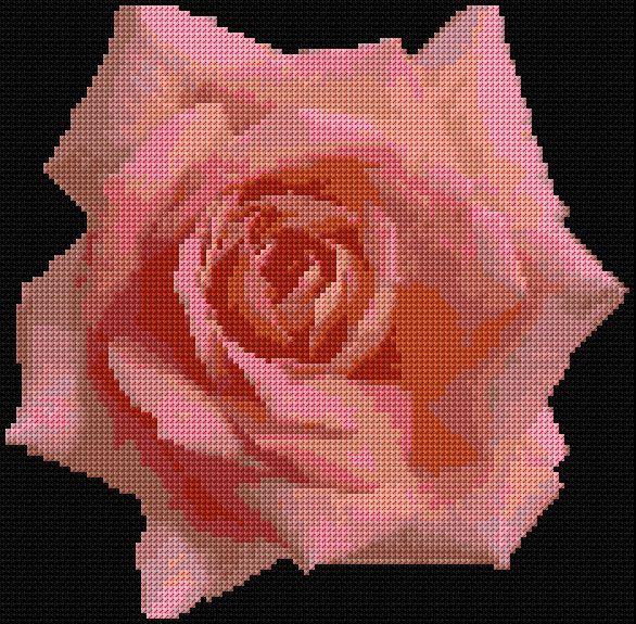 Rose 1 Free Cross Stitch Pattern