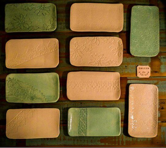 Juego de platos rectangulares de céramica | Taller El Guatan