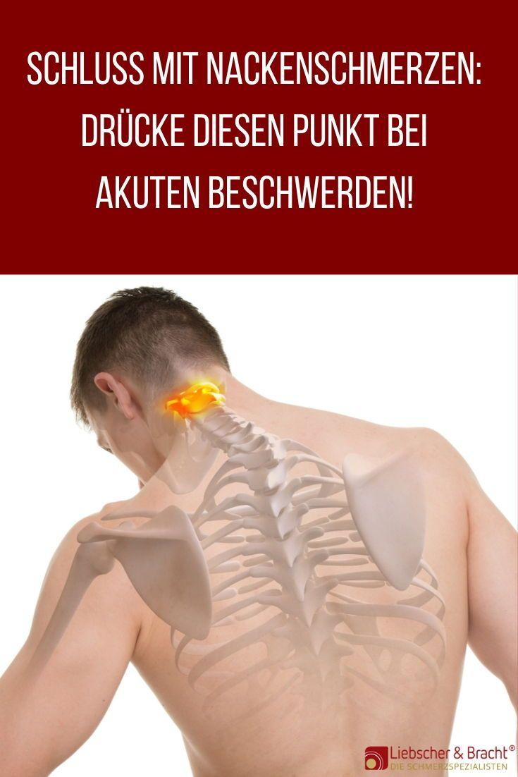 Akut-Hilfe bei Nackenschmerzen: Drücke diesen einen Punkt!